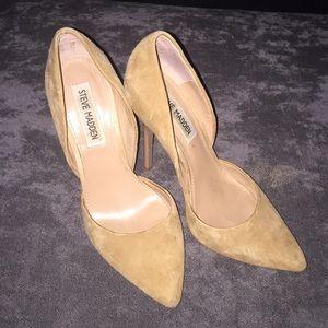 Steve Madden Shoes - Steve Madden tan suede heels size 6.5